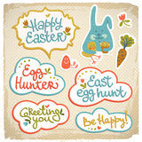 Happy easter banners Stock Photo