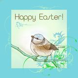 Happy easter bird Stock Images