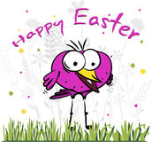 Happy easter bird Royalty Free Stock Images