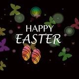 Happy easter. Black background with decoration  happy  easter Stock Images