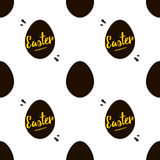 Happy Easter black and gold seamless pattern background Royalty Free Stock Images