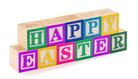 Happy Easter Blocks Royalty Free Stock Image