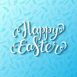 Happy easter blue card Stock Photos