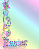 Happy Easter Border Stock Photography