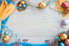 Happy Easter border frame stock image