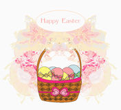 Happy easter border. Stock Photography