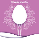 Happy Easter. Bouquet with orchids. Vector illustration Royalty Free Stock Images