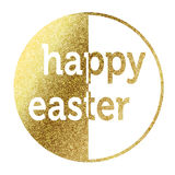 Happy Easter. In bright gold Royalty Free Stock Photography