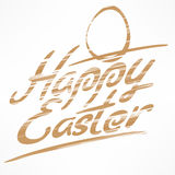 Happy Easter bronze lettering Stock Photos