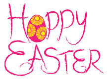 Happy Easter Brush Drawing Egg Vector Illustration Stock Photos