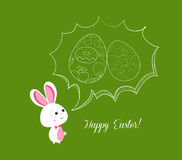 Happy easter bubbles egg and bunny Royalty Free Stock Image