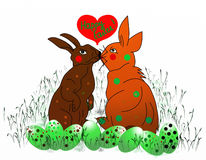 Happy easter bunnies! Royalty Free Stock Image