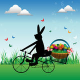 Happy Easter bunny stock images