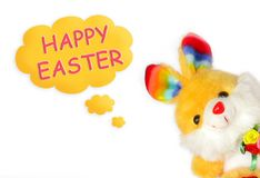 Happy easter bunny. Greeting card Royalty Free Stock Photo