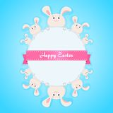 Happy easter bunny card Royalty Free Stock Photos