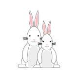 Happy easter bunny cartoon isolated icon Royalty Free Stock Photos