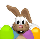 Happy Easter Bunny. 3d graphic illustration design Stock Image
