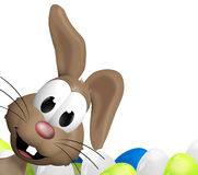 Happy Easter Bunny. 3d graphic illustration design Stock Photos