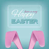 Happy Easter bunny ears design.  Royalty Free Stock Image