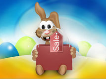 Happy Easter Bunny Easter Time. Graphic festive Royalty Free Stock Photo