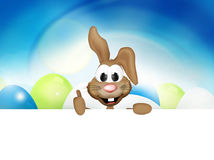 Happy Easter Bunny Easter Time stock illustration