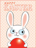 Happy Easter Bunny egg hunt Royalty Free Stock Photography