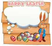 Happy Easter with bunny and eggs Royalty Free Stock Image