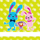 Happy Easter Bunny Family Stock Photo