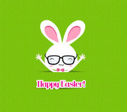 Happy easter bunny greeting card Royalty Free Stock Images