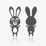 Happy easter bunny icon set. Easter bunny icon as a symbol of rabbit stock illustration