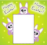 Happy Easter Bunny Invitation / Card Royalty Free Stock Image
