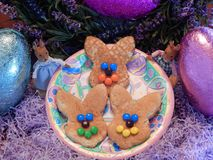 Free Happy Easter Bunny Pancakes 2 Stock Images - 51800174