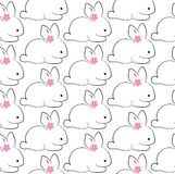 Happy easter bunny pattern vector illustration Stock Images