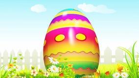 Happy Easter Bunny saying hello stock footage