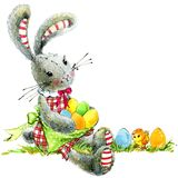 Happy Easter. Easter bunny seamless pattern royalty free illustration
