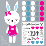 Happy easter bunny vector Royalty Free Stock Photo