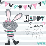 Happy easter bunny vector illustration Royalty Free Stock Photography
