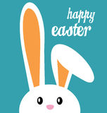 Happy easter and bunny Royalty Free Stock Image
