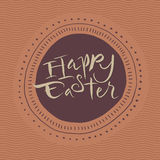 Happy easter calligraphic card stock photo