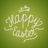Happy easter calligraphy. easter card. Vector illustration Royalty Free Stock Photos