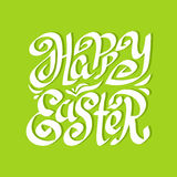 Happy Easter Calligraphy greeting beautiful typography handwritten text Stock Image