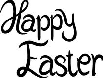 Happy Easter - calligraphy text Stock Photography