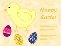 Happy Easter card. Vector illustration of easter card Royalty Free Stock Image