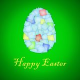 Happy easter card. With abstract egg Stock Photos