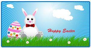 Happy Easter card. Vector illustration for easter day Royalty Free Stock Images