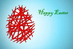 Happy easter card. With abstract egg Royalty Free Stock Image