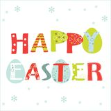 Happy Easter Card. Eggs element feast Royalty Free Stock Photo