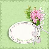 Happy Easter Card. Greeting Easter card  with flowers Royalty Free Stock Photography