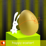 Happy easter card stock illustration