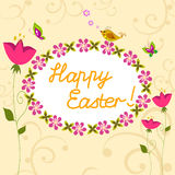 Happy Easter card. Stock Photo